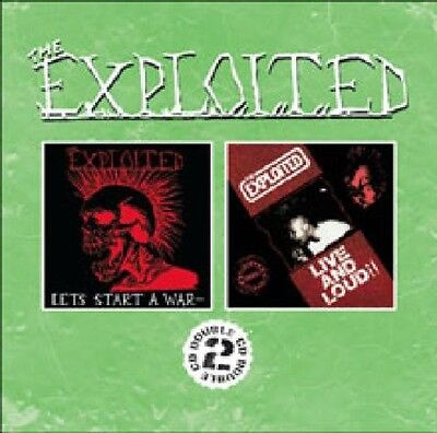Let's Start A War/Live & Loud!! - 2 DISC SET - Exploited (2009, CD NEUF)