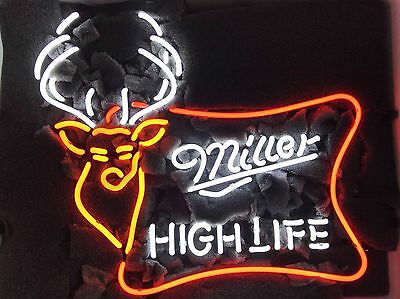 "Miller Lite High Life deer Beer Lager Handmade Neon Light Sign 19""x15"""