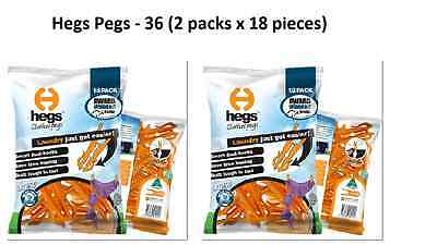 HEGS Clothes Pegs. Made in Australia. BRAND NEW 2 x 18 ORANGE packs.