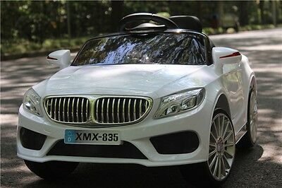 WHITE BMW 535 SALOON STYLE - 12V Kids' Electric Ride On Car + Remote Control