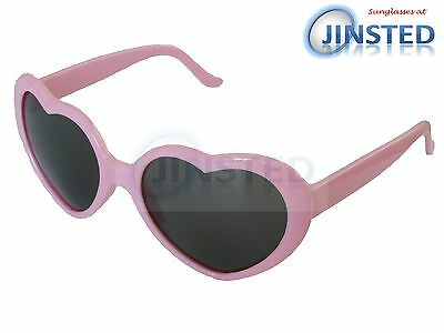 Pink Lolita Heart Shaped Sunglasses Girls Womens Teenager Small Adult TH001
