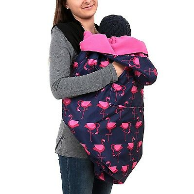 BundleBean babywearing:all-weather waterproof sling and carrier cover Navy Pi...
