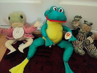 Wind In The Willows Frog Toad Soft Toy Bundle