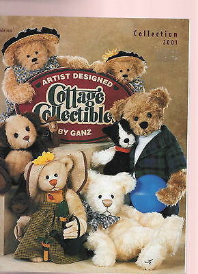 Ganz Cottage Collectible Bears 2001 CATALOG Chien Holstad Kirby Coe accessories