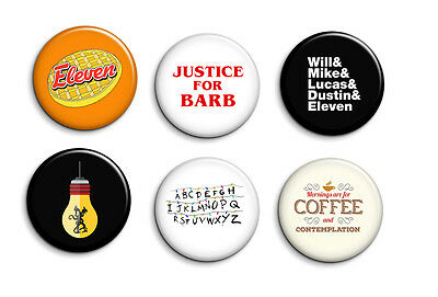Stranger Things Eleven Will Netflix Pinback Buttons or Magnets 6 Piece Set