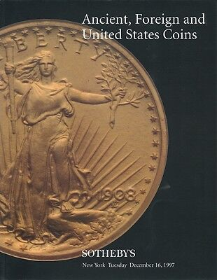 SOTHEBY'S Ancient, Foreign and United States Coins Catalog NYC December 16, 1997
