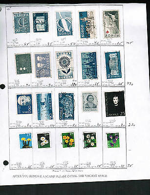 NORWAY HI VALUES**  20 STAMPS used  # various SEE SCAN  cat $34.00+ LOT 330