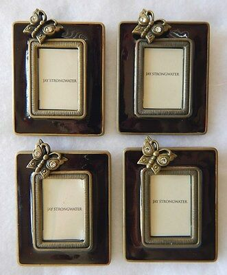 4 Photo Frames Neiman Marcus Jay Strongwater Butterfly Frames MINT