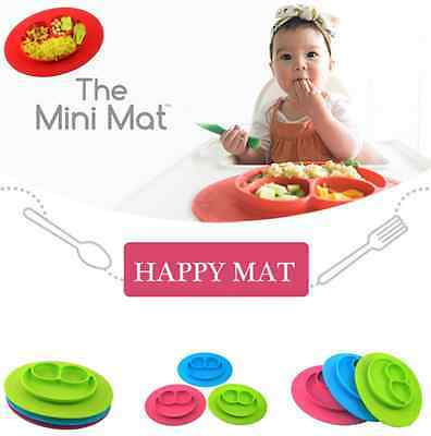 Smile Ezpz One-Piece Silicone Child Kids Safe Baby Food Divided Bowl Placemat