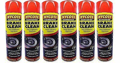 6x HYCOTE WORKSHOP BRAKE DISC CLEANER AND UNGREASER SPRAY - 600 ML