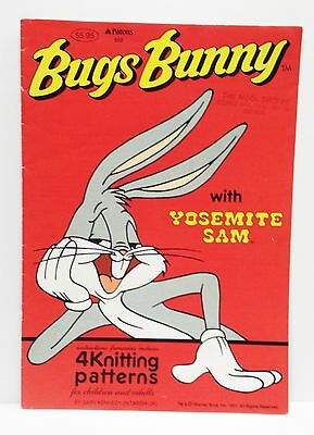 BUGS BUNNY patons Knitting Pattern 1991- Good Condition Vintage Cartoon