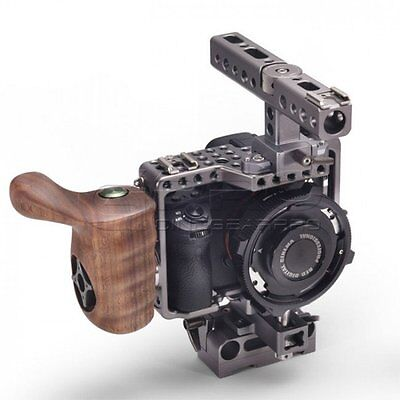 TiLTA ES-T17-A SONY A7 Series Cage With Wooden handgrip 4 A7R, A7RII, A7s, A7sII