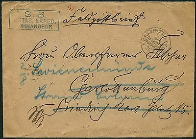 159/DP China Brief Feldpost KD Feldpostexpedition b 21/7/1901 SB Kommandeur