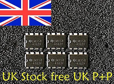 LM358N OP AMP 8PIN DIP NEW 6 PCS UK Stock Free UK P+P
