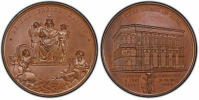 LATVIA. 1856 Bronze Medal. PCGS SP65. 42.5mm. Sommer-K20.