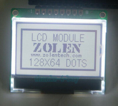12864 128X64 Serial SPI Graphic COG LCD Module Display Screen LCM w/ ST7565P 5V