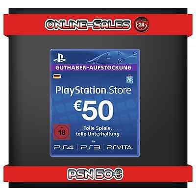 PSN Playstation Network DE Store Card Karte Guthaben Key 50€ Euro Code 50 €