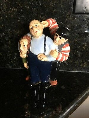 MIB CERAMIC 1997 THE THREE STOOGES CERAMIC Bank Rare BY CLAY ART