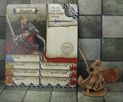 Zombicide Black Plague Promo Hero William not Boromir from Lord of the Rings