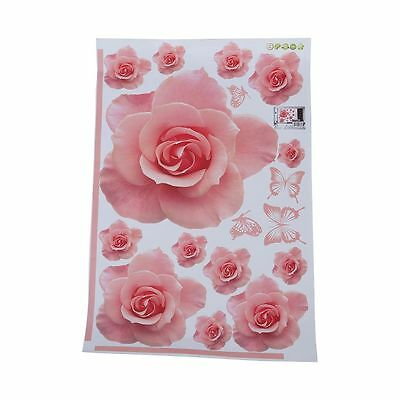 Rose Flower Pattern Removable Wall Sticker Decal TSY Home Decor TS