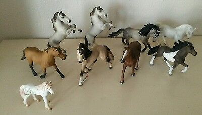 Lot of 9 Schleich Horse Figures many retired #13621 #13607 #13793 #70420 #13293