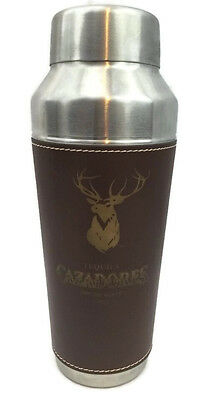 Martini Cocktail Drink Mixer Shaker Bartender Bar Leather Wrapped Cazadores New