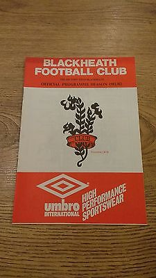 Blackheath v Coventry 1981 Rugby Union Programme
