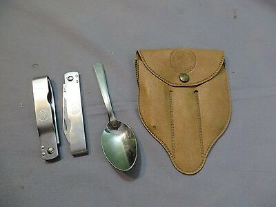 Boy Scout Bsa Vintage Imperial Pouch Folding Mess Kit Camp Set Spoon Fork Knife