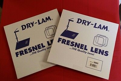 (LOT OF 2 NEW) Dry-Lam FRESNEL LENS FOR BELL & HOWEL OVERHEAD PROJECTOR ~ #50003