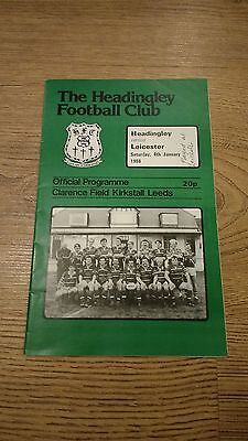 Headingley v Leicester 1986 Rugby Union Programme