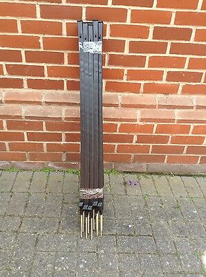Electric fence posts BLACK 10 x 3 ft