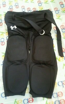 Youth Medium YMD Under Armour Performance Padded Integrated Football Pants Black