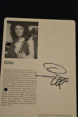 GILLA signed Autogramm In Person POP LEXIKON signiert 1975