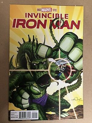 Invincible Iron Man #1 Kirby Monster Variant Cover 1St Printing (2015) Marvel