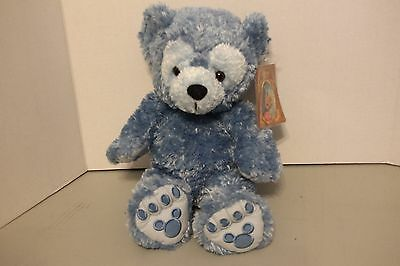 """NEW With Tags NOS Disney Pre Duffy BLUE Hidden Mickey 17"""" Plush Bear Official"""