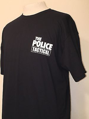 RARE THE POLICE TACTICAL Sting Concert Tour CREW ONLY Mens Black Shirt XL XLARGE