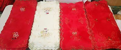 150pc Wholesale Embroidered Christmas Table Runner Mix 39x85cm Clearance Sale