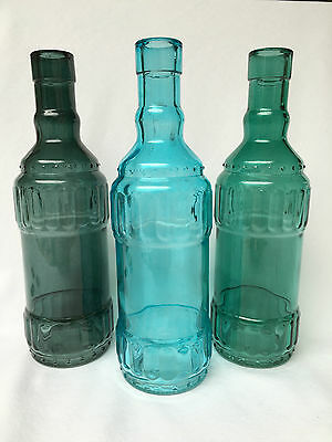 Vintage Style Blue Mix Round Glass Bottles,vase,wedding flower arrangements