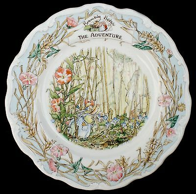 Royal Doulton ~ Brambly Hedge ~ The Adventure Plate ~ 20cm RARE