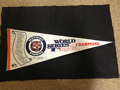 DETROIT TIGERS 1984 PENNANT World Series CHAMPIONS Scroll style RARE