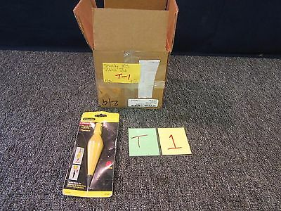 Stanley 47-971 8 Oz Plumb Bob Steel Tip Doors Framing Carpentry Tool Fences New