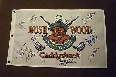 Phil Mickelson Signed/Autographed Bushwood Flag Speith Curry Must L@@K