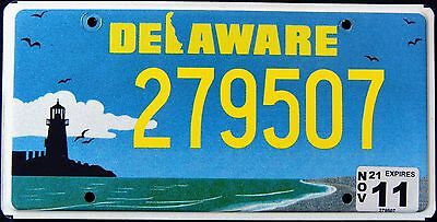 "DELAWARE "" LIGHTHOUSE "" DE Graphic License Plate"