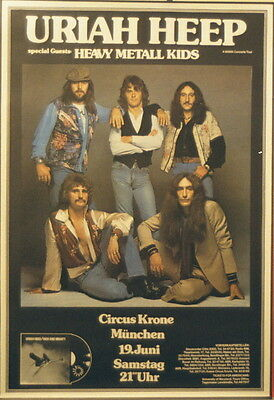 Uriah Heep Concert Tour Poster 1976 High And Mighty
