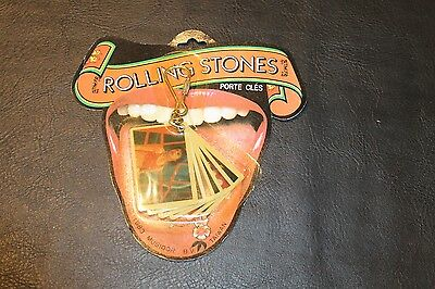 Rolling Stones 1983 Key Chain Mini Post Cards of Band Sealed