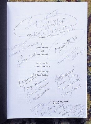 """2008 ANNOTATED SCREENPLAY UPCOMING FILM """"SOLACE"""" Colin Farrell, Anthony Hopkins"""