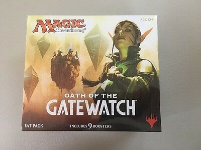 MAGIC THE GATHERING -  Oath Of The Gatewatch Fat Pack - 9 Boosters - JS