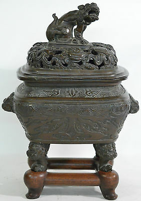 An 18th century Chinese bronze censer (incense burner)