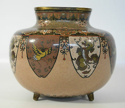 A 19th century Japanese cloisonné vase/pot