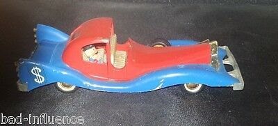 Vintage 1960's Die Cast Paperone Politoys #559 Uncle Scrooge's Limo Car